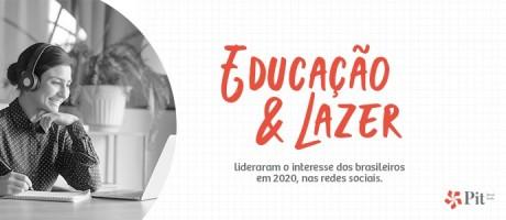 Educação e lazer lideraram o interesse dos brasileiros em 2020 nas redes sociais | Pit Brand Inside